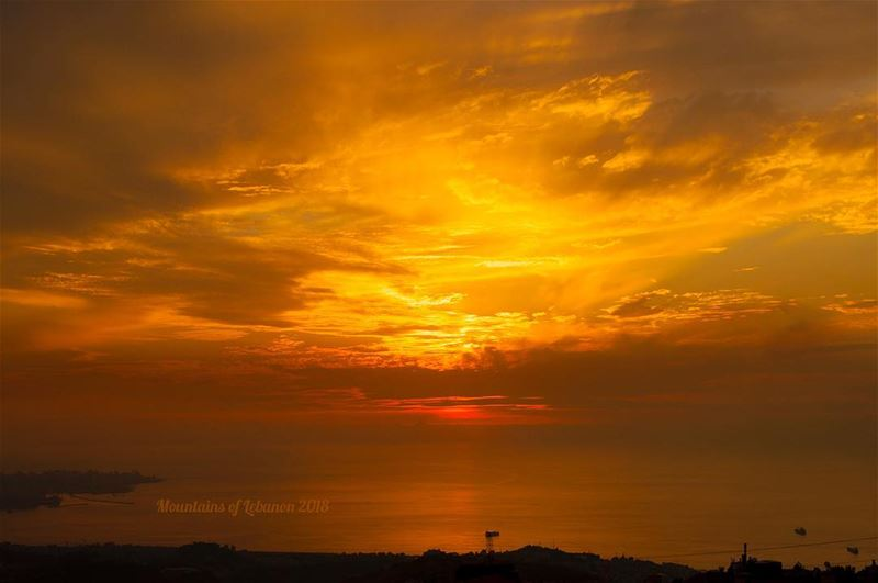 It's the season of burning skies, few weeks till the Sun sets behind... (Ballouneh, Mont-Liban, Lebanon)