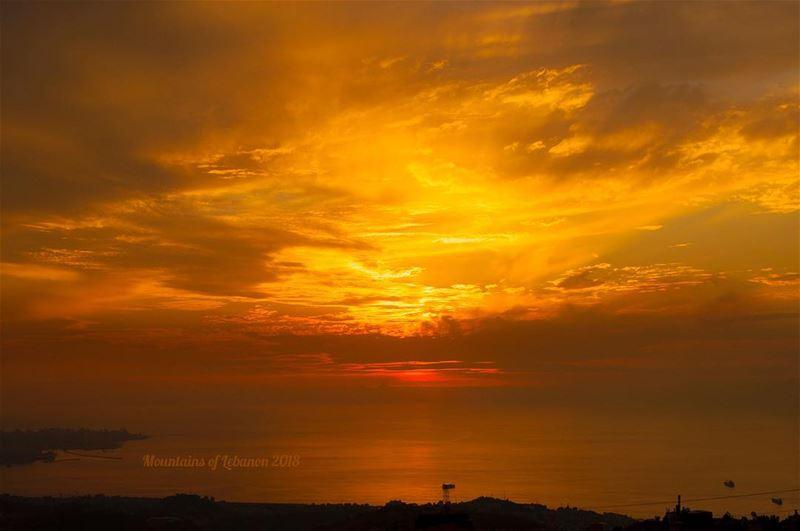 It's the season of burning skies, few weeks till the Sun sets behind... (Ballouneh, Mont-Liban, Lebanon)