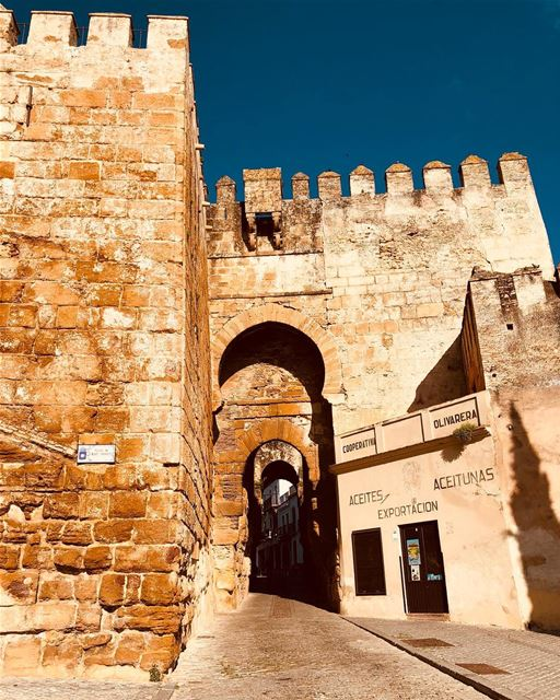The simplest explanation is that Carmona's Alcazar was built by the Arabs ( (Alcazar de la Puerta de Sevilla)