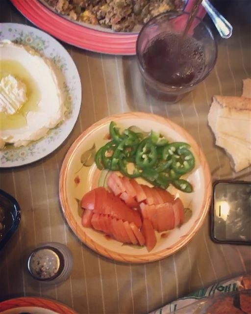 Lebanese Breakfast ❤️🇱🇧 ... manakish foulmoudamas eggs legumes ...