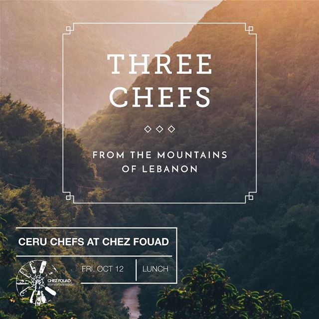 All the way from London, @cerulondon chefs will be adding there special... (Chez Fouad)