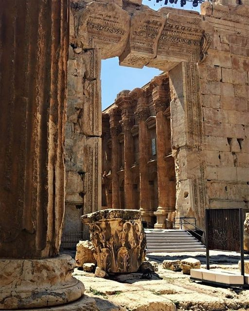 9000 years of civilization 💙--------------------------------------------- (Baalbek, Lebanon)