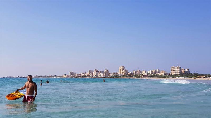 photooftheday tyre city love surf water sealife sea like4like ... (Tyre, Lebanon)