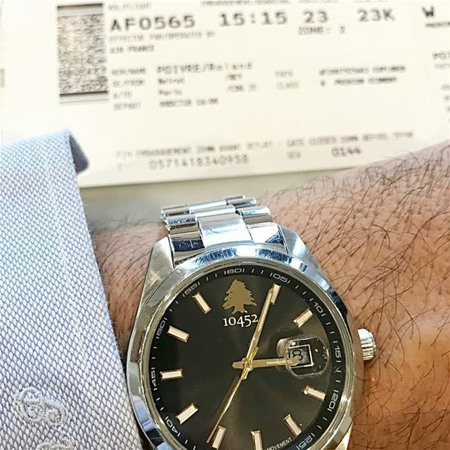 Off we  go to new  adventures with my  10452dna  classic  watch on my ... (Beirut–Rafic Hariri International Airport)