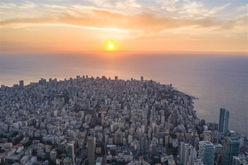 A reason to fall in love with B E I R U T ❤ -Photo taken with @djiglobal... (Beirut, Lebanon)