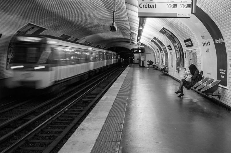 Life on the run!... paris motion photography blackandwhite monochrome...