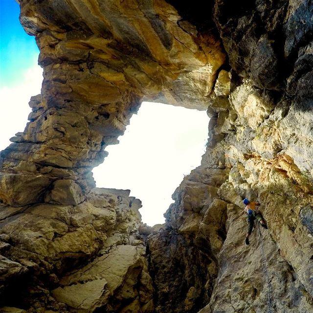 This rock rocks 🤘🧗♂️.... climbing rockclimbing lebanon ... (El Laqloûq, Mont-Liban, Lebanon)