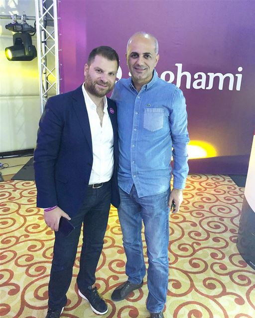 With Eddy Maroun the CO-Founder & CEO At Anghami in Dubai.... anghami... (The Westin Dubai Mina Seyahi Beach Resort & Marina)