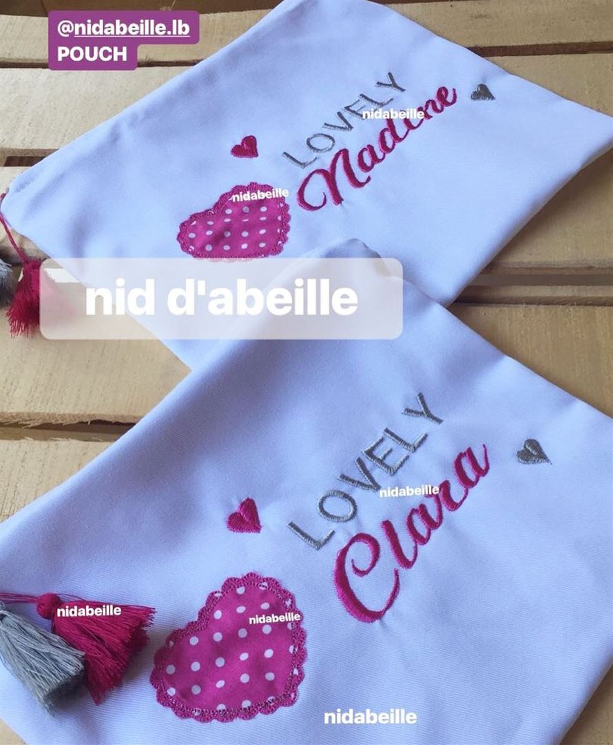 Too much LOVE 🎀 Write it on fabric by nid d'abeille pink heart lovely ...