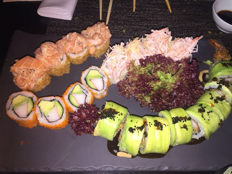 sushi nightout yumm bestintown lebanon delicious instagram yummy ... (Osaka Beirut)