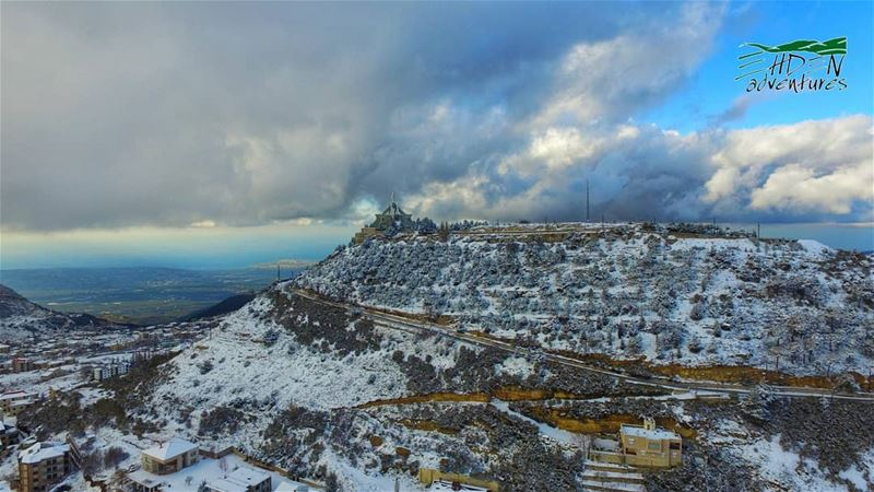 snow winteriscoming ehden lebanon soon ...