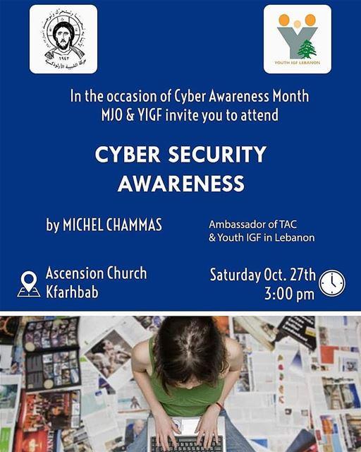 Join us! Lebanon CyberAwarnessMonth CyberSecurity CyberAware YouthIGF... (Kafr Hbab, Mont-Liban, Lebanon)