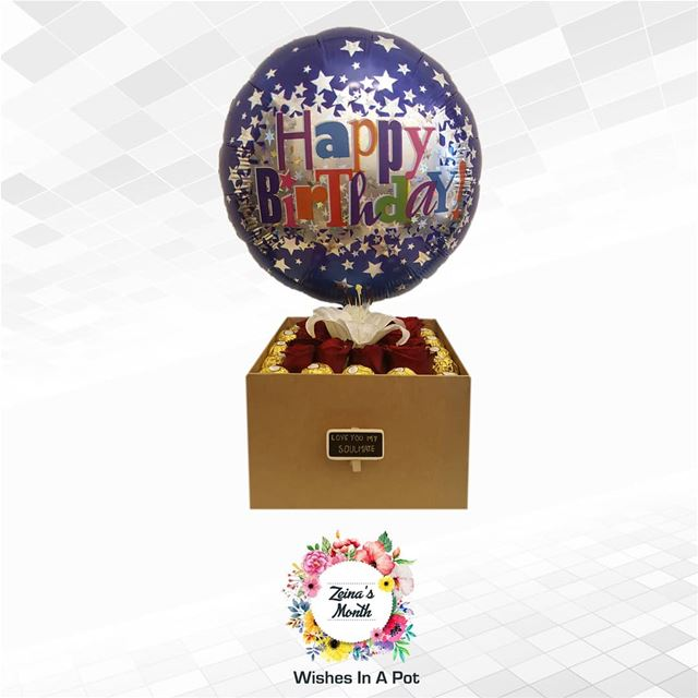 Zeina's month day 25 offer: Soulmate box + balloon for 60,000L.L. (Availabl