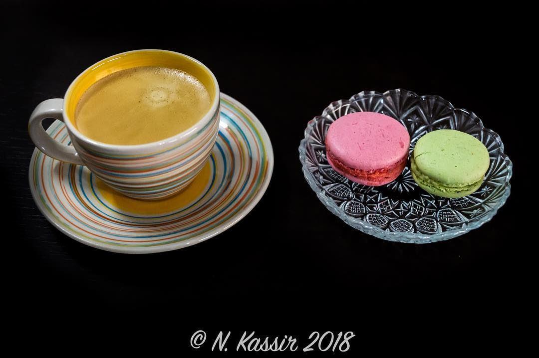coffee nespresso lungo maccaron dessert sweets pistachio ...