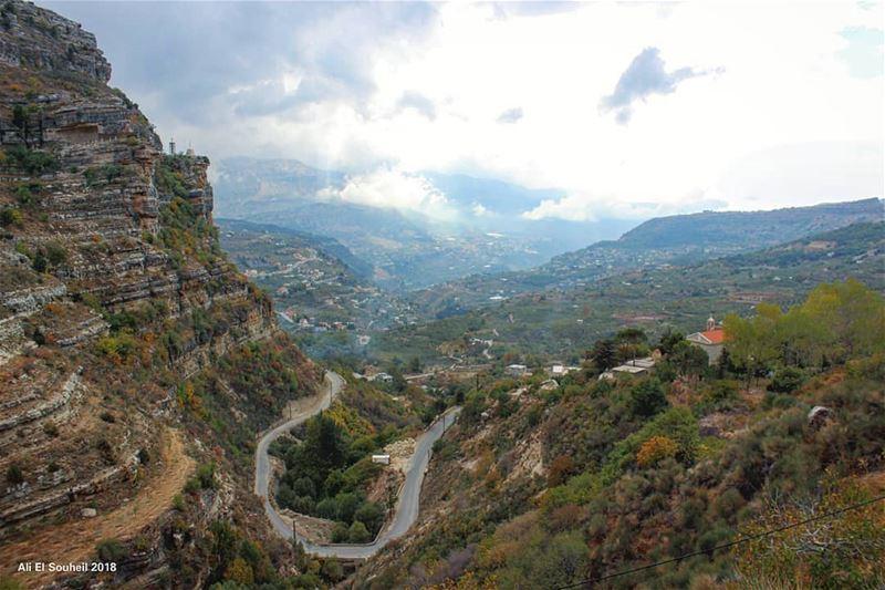 tb akoura montlebanon lebanon mountains sky clouds hiking colorful... (Akoura, Mont-Liban, Lebanon)
