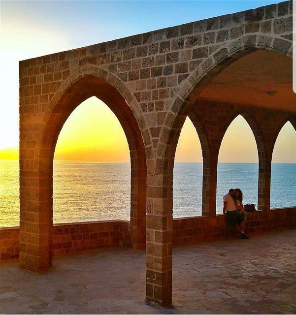 batroun البترون_سفرة sunset saydet_el_baher phoenician wall sea ... (Saydet El Baher-Batroun)