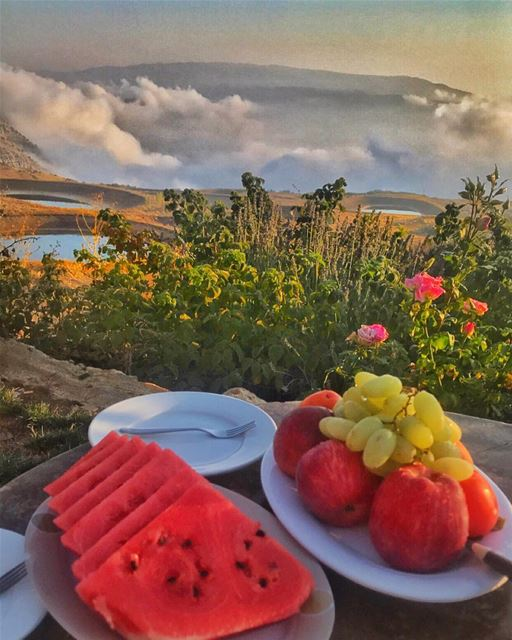 I'll miss that colorful escape 🍉🍇🍑🍏 (Akoura, Mont-Liban, Lebanon)