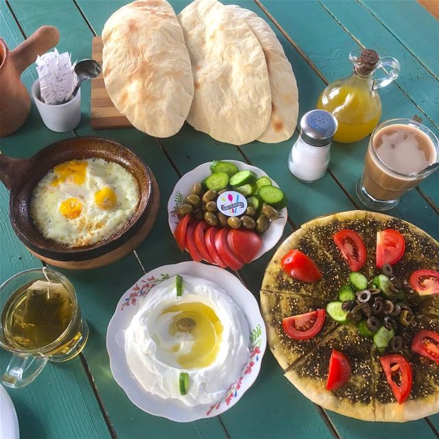 Tasty breakfast to start the day with😍😍 ehden hometown zgharta ... (Ehden, Lebanon)