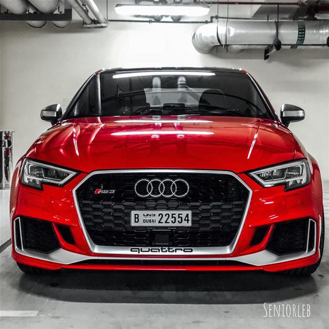 New Audi RS3 in red 🔴❗️❗️❗️ ——————————————————————— audi audiosforedits... (Dubai, United Arab Emirates)