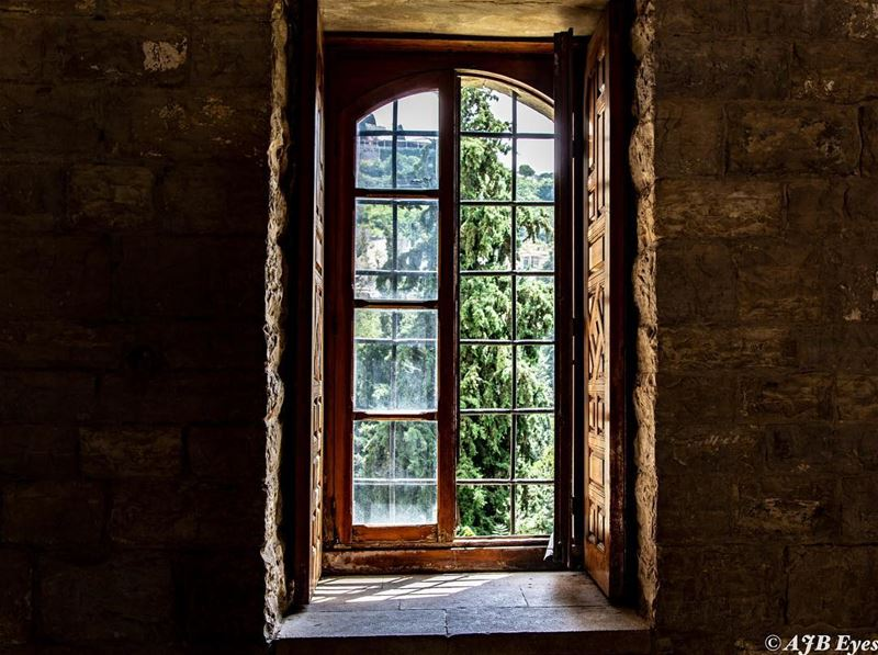 Adventure is just outside your window. lebanon light window ... (Beiteddine Palace)