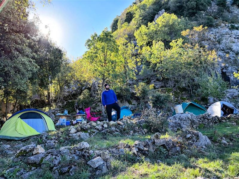 Good morning  campers  morningvibes @chahtoulcamping  camping  coldmorning... (Chahtoûl, Mont-Liban, Lebanon)