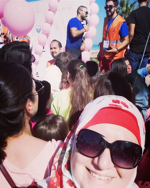 breastcancerawareness  morningwalk  visitsaida @visitsaida  livelovesaida...