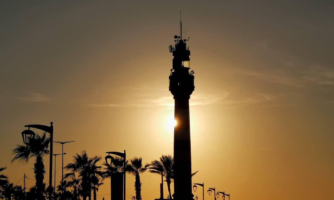 Watchtower........... sunset beirut tower shadows corniche... (Corniche El Manara)