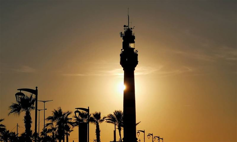 Watchtower........... sunset  beirut  tower  shadows  corniche... (Corniche El Manara)