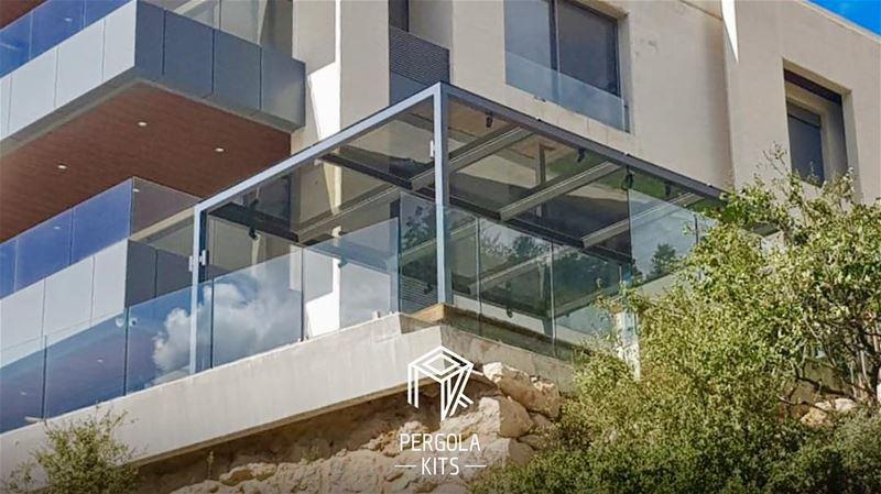 Metal Steel Structure with Glass Roofing Pergola Kits! PergolaKitsLebanon... (Adma, Mont-Liban, Lebanon)