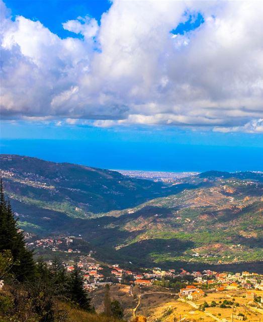 Falougha cloudy sky landscape nature lebanon mountains storm... (Falougha, Mont-Liban, Lebanon)
