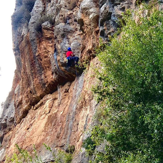 A bad day of climbing is better than a good day at work 🧗‍♂️....... (Tannurin At Tahta, Liban-Nord, Lebanon)