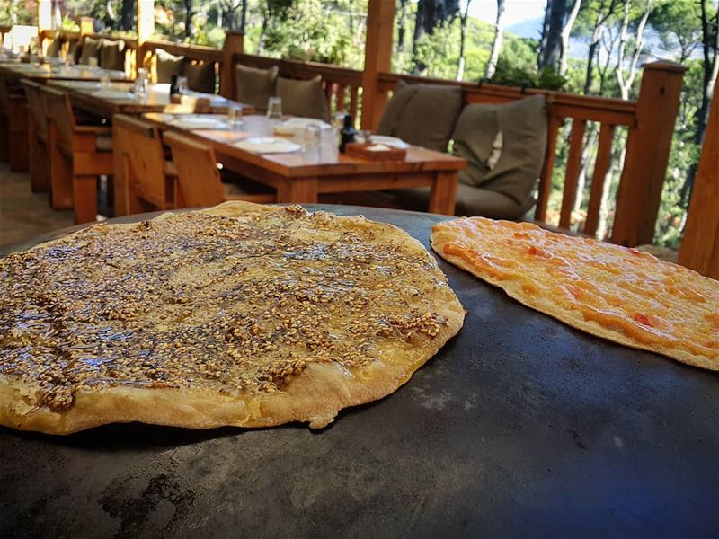 So, which one would you choose on WorldMankousheDay?😋 Zaatar or Kishk?🔥� (La Maison de la Forêt)