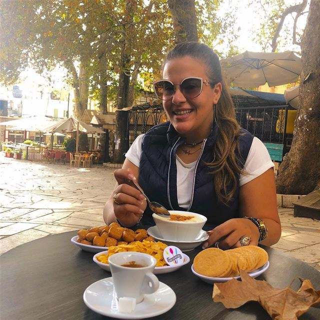 Sahlab time 😍😍 Good morning from Ehden @liveloveehden @cafe_ayrouth ... (Ehden, Lebanon)