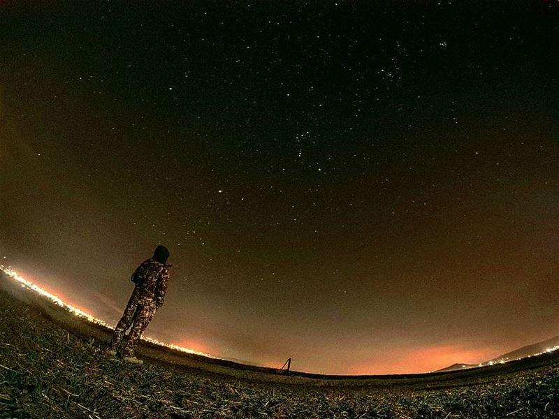 Look at the stars instead of the dark 🌌... starslight nightshooting... (Beqaa Governorate)