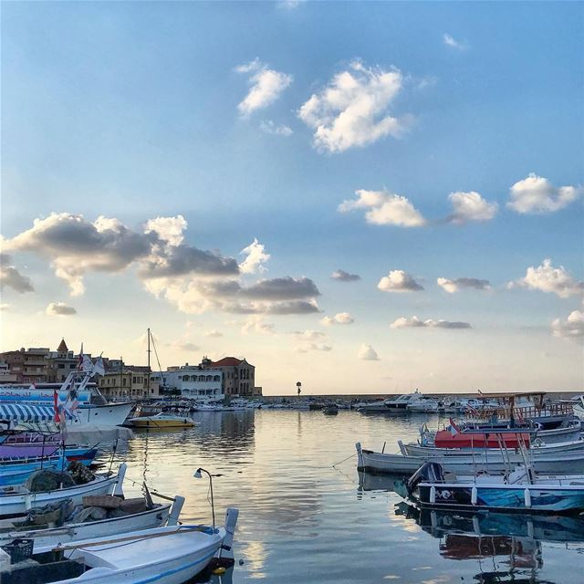 sea boat sky clouds instagood picoftheday photooftheday instagram ... (Tyre, Lebanon)