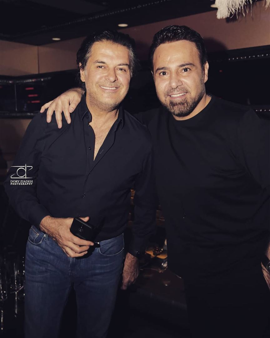 When the stars meet !!!The super star @raghebalama & the knight of the... (BAHAY)