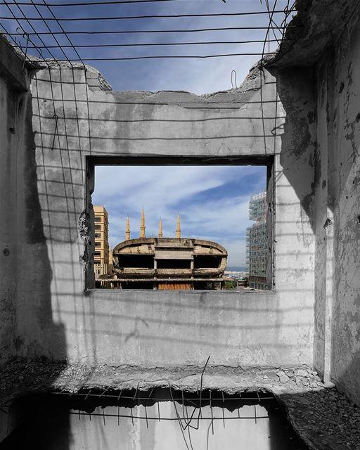 ~ Beirut Egg ~... beirut abandoned abandonedplaces ... (Beirut, Lebanon)