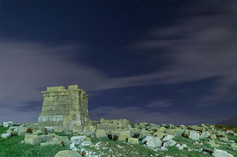 Faqra archeological site by night!••• lebanon lebanese landscape ... (Faqra Kfardebian)