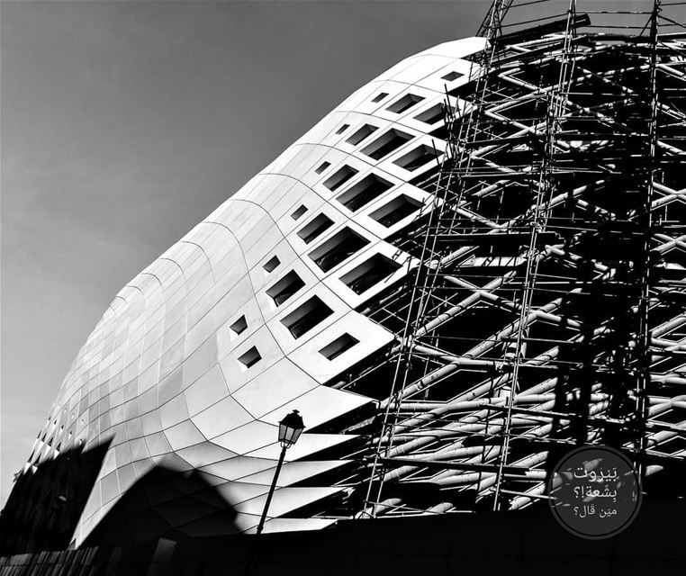 🇱🇧 Zaha Hadid in black and white uglybeirut بيروت_مش_بشعة  بيروت... (Beirut, Lebanon)