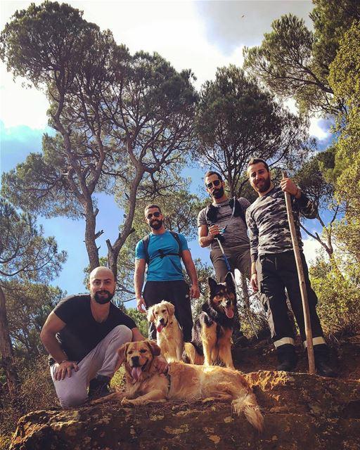 Dodger_TheDog hiking with friends ... livelovelebanon livelovebeirut... (Bkâssîne, Al Janub, Lebanon)