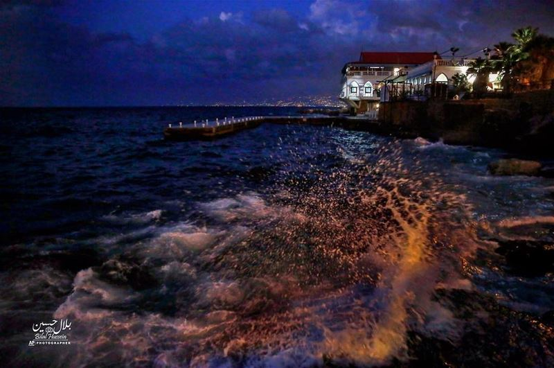 The Mediterranean Sea off the Corniche, or waterfront promenade, in Beirut,