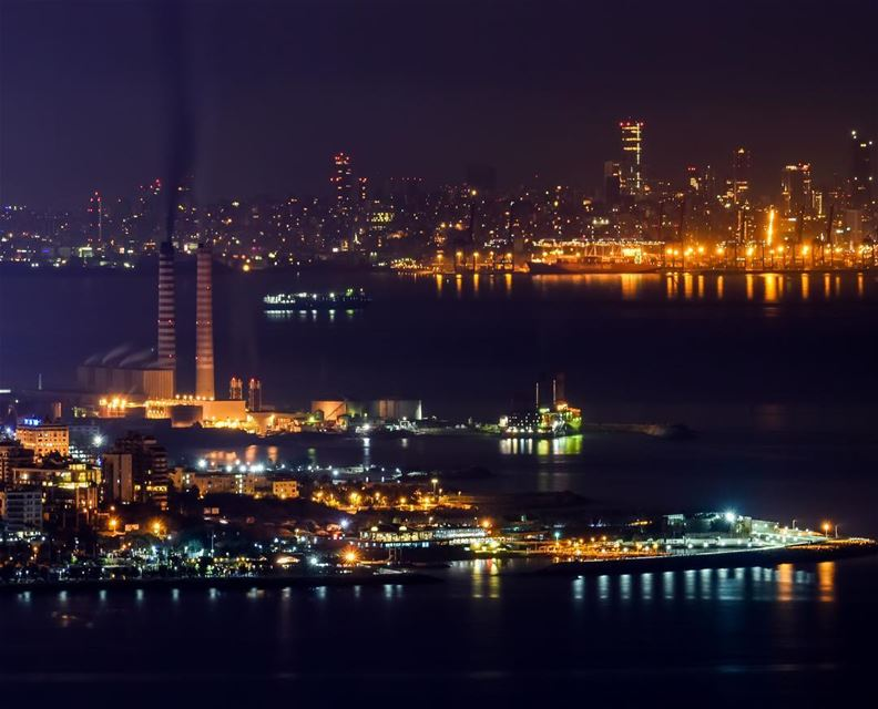 smookiiinnn smoke zouk jounieh lebanon longexposure lights sea ... (Adma)