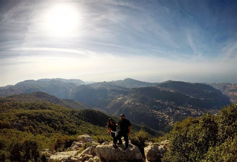 The View Is Always Amazing From The Top 😎📸 By: @rene_gemayel Autumn ... (Jabal Moussa Biosphere Reserve)
