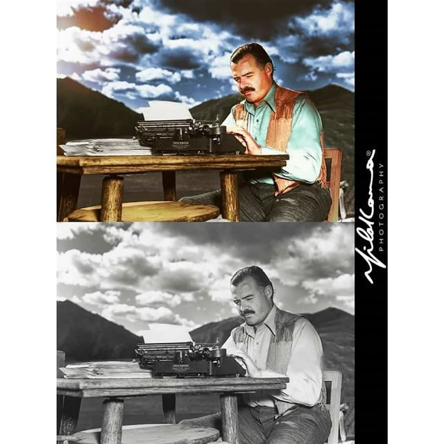 Ernest Hemingway 1939 - Colorized By Milad Lamaa © 2018 history ...