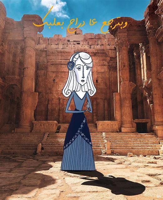 - Happy Birthday F A Y R O U Z -( Repost: @elmaalouf )........ (Baalbek, Lebanon)