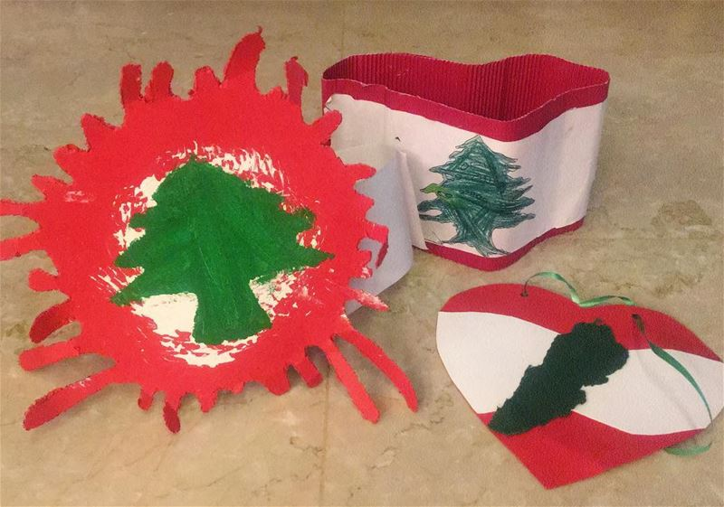 independence  day 🇱🇧 kids  handmade  craft  Lebanon  Lebanese  cedar ...