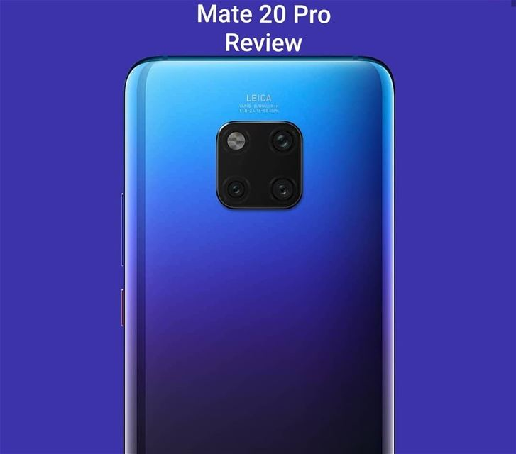 After one week with my new Huawei Mate 20 Pro,  I have to say that I'm...