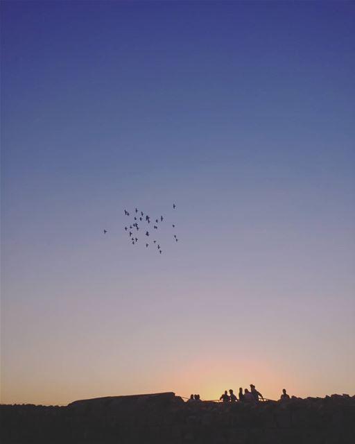 Let's go into the blue ⛅ lebanon tripoli castle view sunset sky ... (Tripoli, Lebanon)