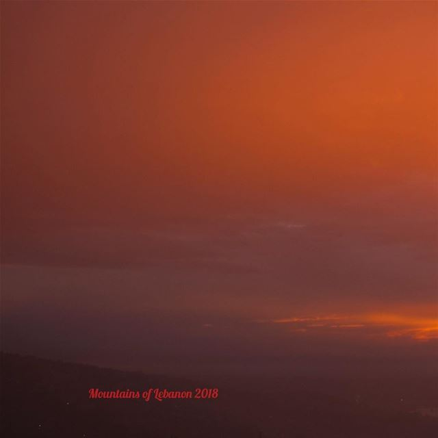 Stormy sunset over Beirut, the bright side, part of tryptic 1/3... (Ballouneh, Mont-Liban, Lebanon)