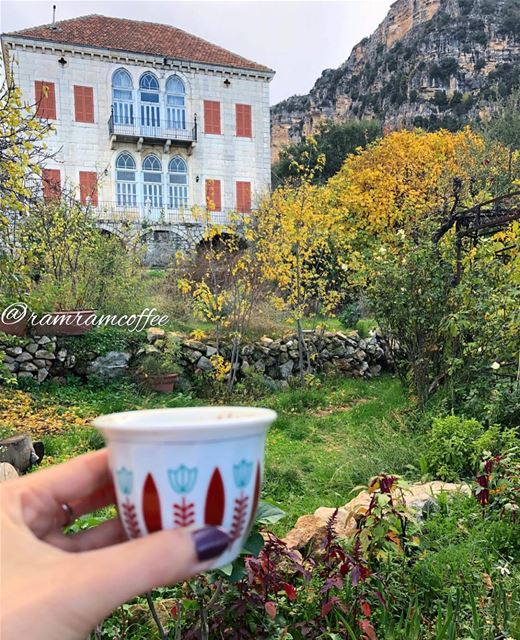 Morning from wonderful village douma 🏡☕️🍂🍁..... ramramcoffee ... (Beit Douma)
